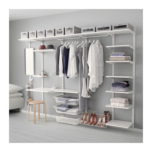 ALGOT Wandrail  plank  driedubbele haak   IKEA