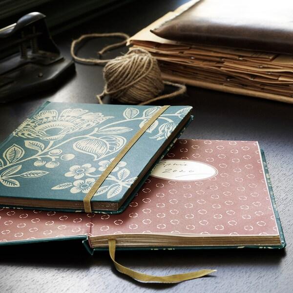 ANILINARE Notitieboekje, groen/goudkleur, 20x16 cm