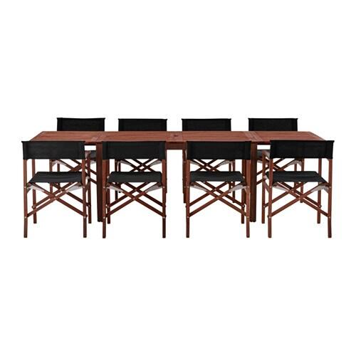 Pplar siar tafel 8 stoelen buiten ikea - Winkel balkon leroy merlin ...