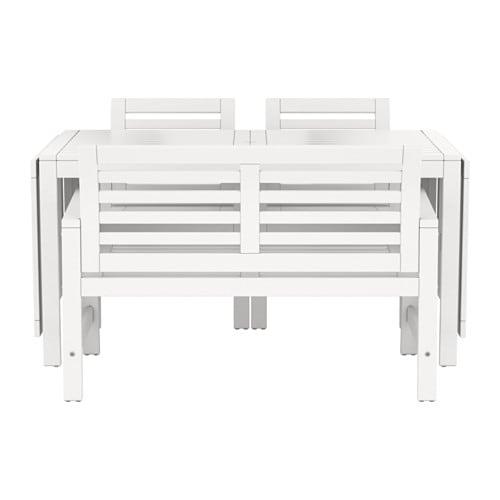 u00c4PPLAR u00d6 Tafel+2 tuinstoelen+bank, buiten   wit   IKEA