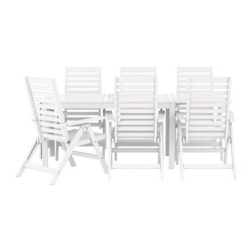 u00c4PPLAR u00d6 Tafel+6 tuinstoelen, buiten   wit   IKEA