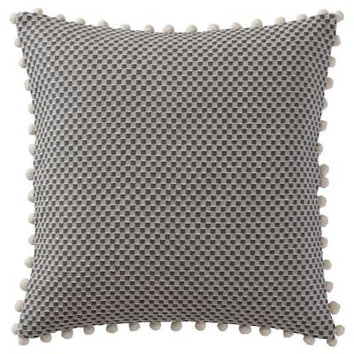 ASGJERD Kussenovertrek, stippen donkergrijs, 50x50 cm