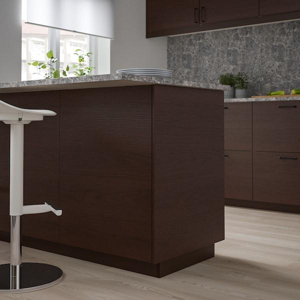 ASKERSUND Bedekkingspaneel, donkerbruin essenpatroon, 62x80 cm