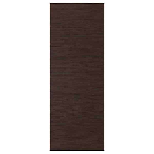 ASKERSUND Deur, donkerbruin essenpatroon, 30x80 cm