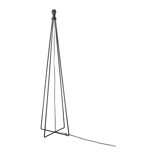 ÅSTORP Staande lampvoet , zwart Hoogte: 128 cm Breedte lampvoet: 36 cm Snoerlengte: 2.0 m