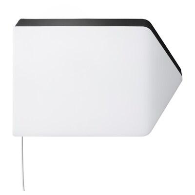 BÄGAREN Led-wandlamp, pijl wit/zwart