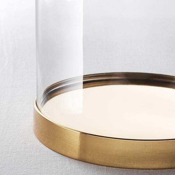 BEGÅVNING glazen stolp met schotel 26 cm
