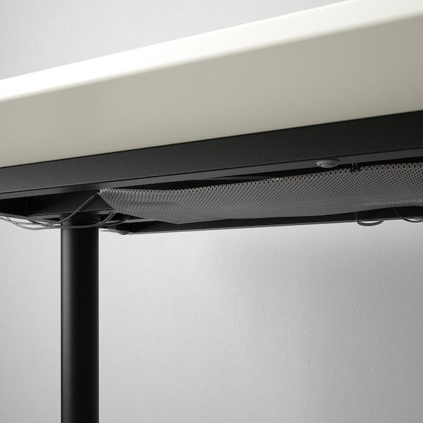BEKANT Bureau, wit/zwart, 160x80 cm