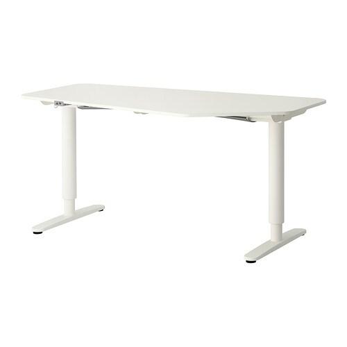 berkant 5-kantig bureau zit/sta, wit