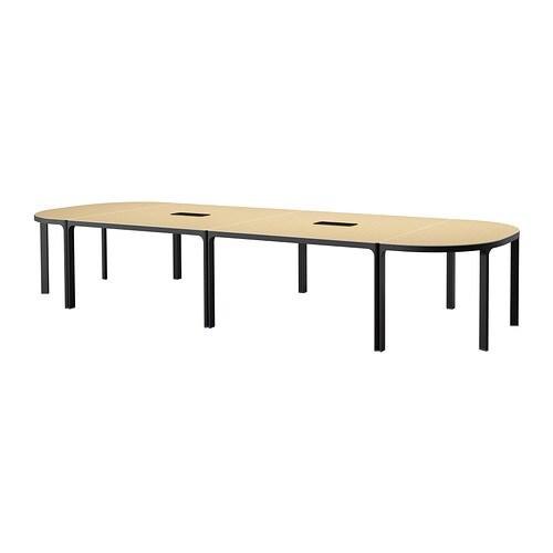 Bekant Vergadertafel Berkenfineer Zwart Ikea