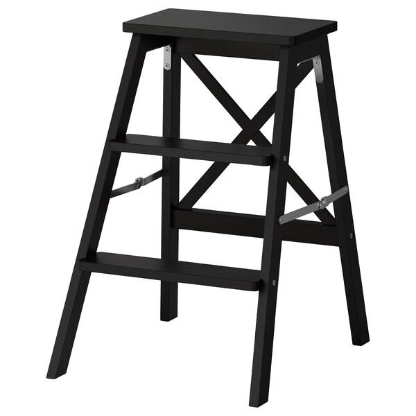 BEKVÄM Trapje, 3 tredes, zwart, 63 cm