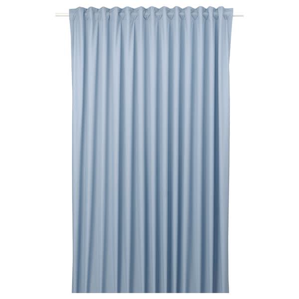 BENGTA verduisterend gordijn, 1 stuk blauw 300 cm 210 cm 0.85 kg 6.30 m² 1 st.