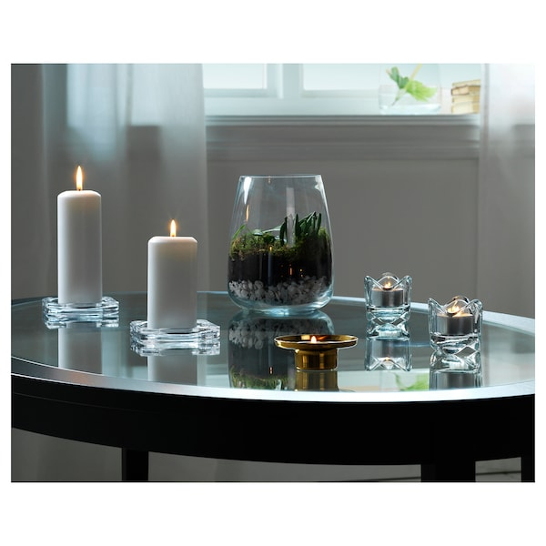 BERÄKNA Vaas, helder glas, 18 cm