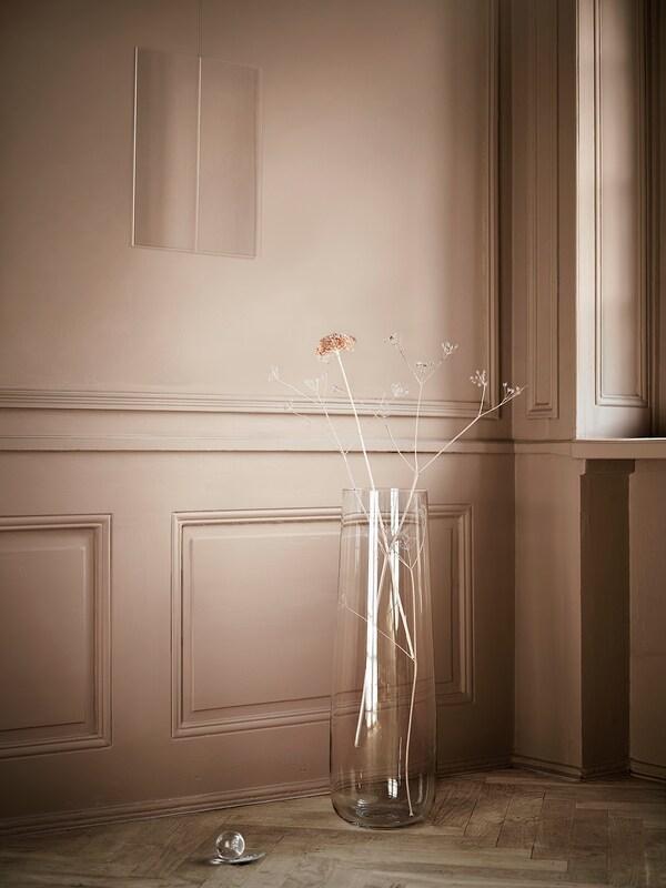BERÄKNA Vaas, helder glas, 65 cm
