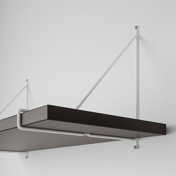 BERGSHULT / PERSHULT wandplankencombinatie bruinzwart/wit 120 cm 30 cm