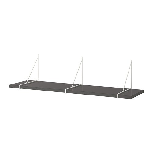 Wandplank Diepte 40 Cm.Bergshult Pershult Wandplank Donkergrijs Wit 120x30 Cm Ikea