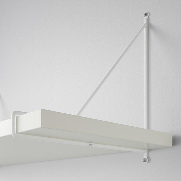 BERGSHULT / PERSHULT Wandplankencombinatie, wit/wit, 120x30 cm
