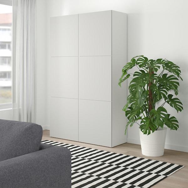 Besta Opberger Met Deuren Wit Lappviken Lichtgrijs 120x40x192 Cm Ikea