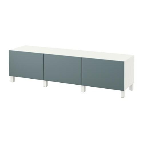 BEST u00c5 Opberger met lades   wit  Valviken grijsturkoois, laderail, zachtsluitend   IKEA