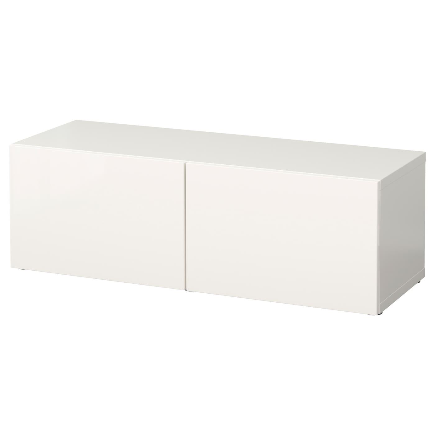 Besta Open Kast M Deuren Wit Selsviken Hoogglans Wit Ikea