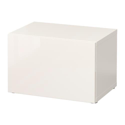best open kast met deur wit selsviken hoogglans wit ikea. Black Bedroom Furniture Sets. Home Design Ideas