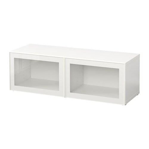 Hoogglans Witte Servieskast.Besta Open Kast M Deuren Wit Selsviken Hoogglans Wit Ikea