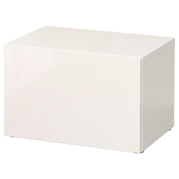 BESTÅ open kast met deur wit/Selsviken hoogglans/wit 60 cm 40 cm 38 cm