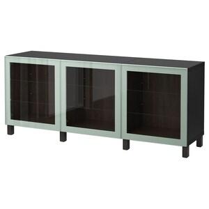 Kleur: Zwartbruin glassvik/hoogglans/licht grijsgroen helder glas.