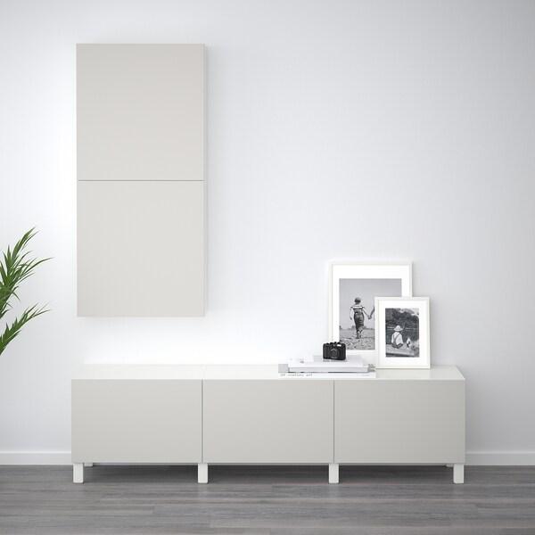 BESTÅ opberger met lades wit/Lappviken lichtgrijs 180 cm 40 cm 48 cm