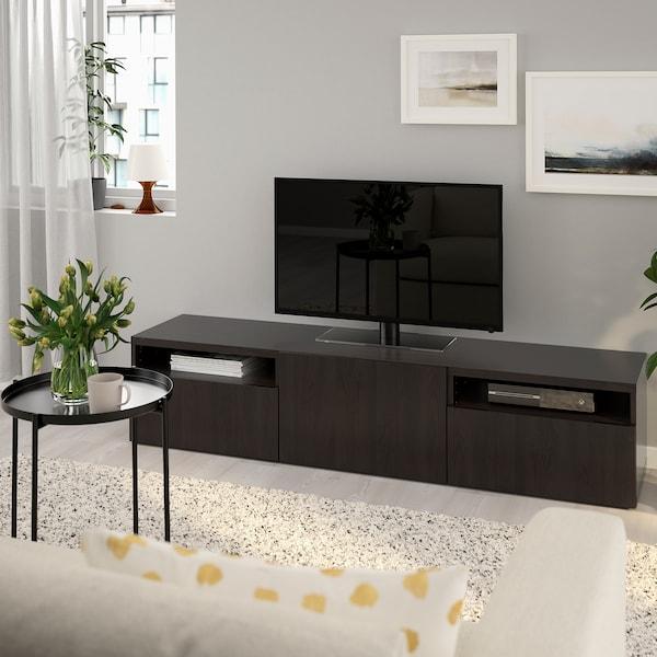 Ikea Besta Tv Meubel Kast.Besta Tv Meubel Lappviken Zwartbruin Ikea