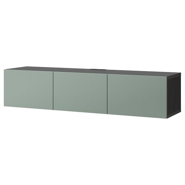 Ikea Tv Meubel.Besta Tv Meubel Met Deuren Zwartbruin Notviken Grijsgroen Ikea