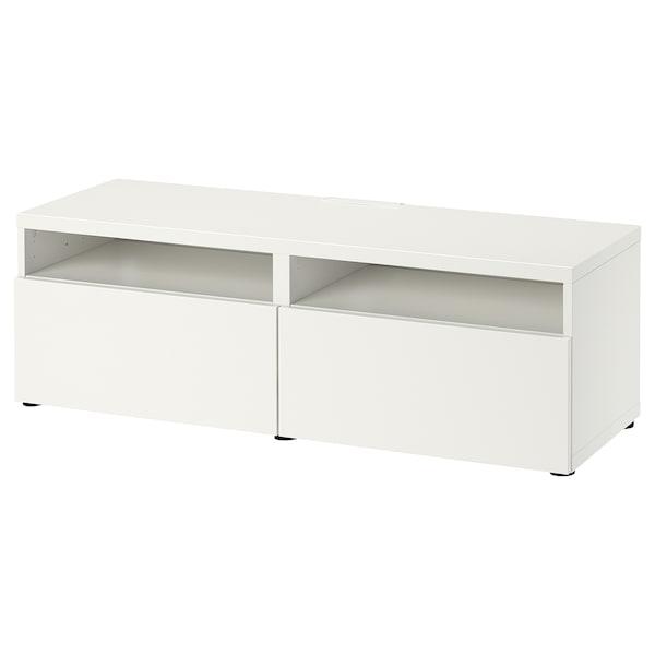 BESTÅ Tv-meubel met lades, wit/Lappviken wit, 120x42x39 cm