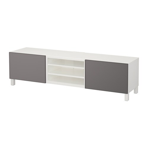 best tv meubel met lades wit grundsviken donkergrijs laderail zachtsluitend ikea. Black Bedroom Furniture Sets. Home Design Ideas