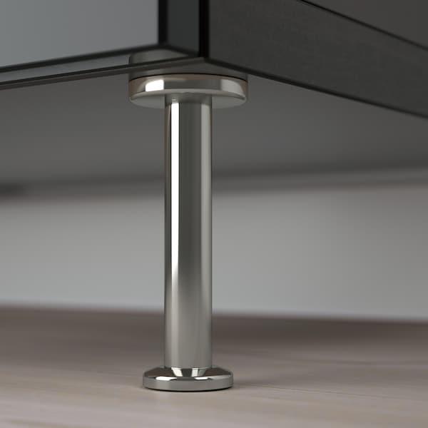 BESTÅ Tv-meubel met lades, zwartbruin/Selsviken/Stallarp hoogglans/zwart, 120x42x48 cm