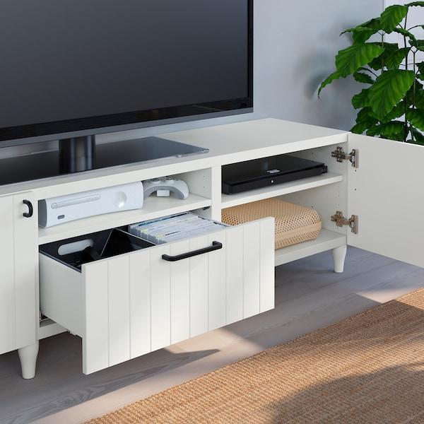 BESTÅ Tv-meubel, wit/Sutterviken/Kabbarp wit, 180x42x48 cm
