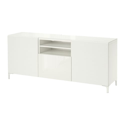 ... Laxviken wit/Selsviken hoogglans/wit, laderail, zachtsluitend - IKEA