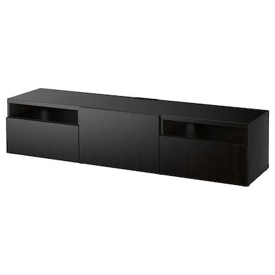 BESTÅ Tv-meubel, zwartbruin/Lappviken zwartbruin, 180x42x39 cm