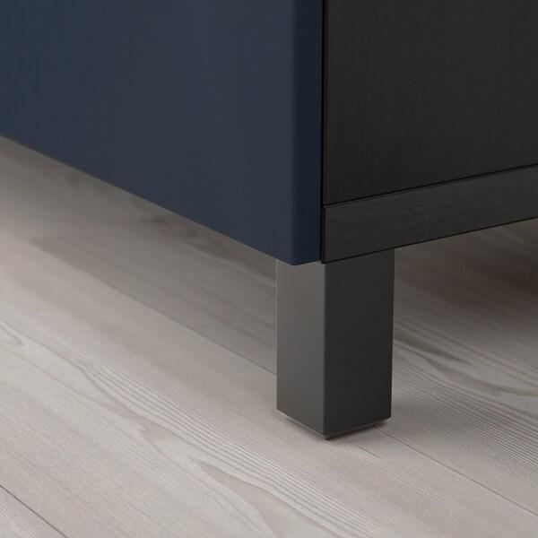 BESTÅ tv-meubel met deuren zwartbruin/Notviken/Stubbarp blauw 120 cm 42 cm 74 cm 50 kg
