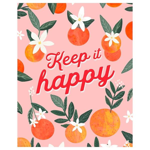BILD poster Keep it happy 40 cm 50 cm