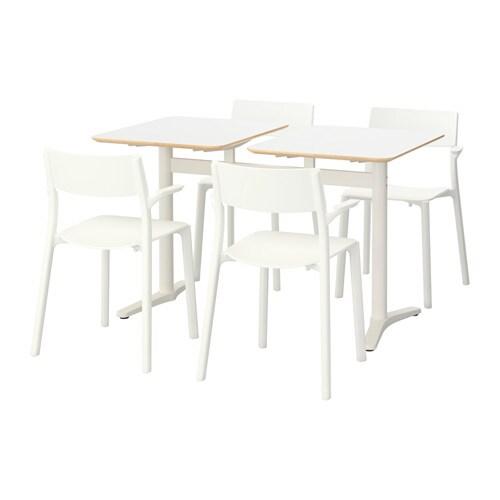 BILLSTA / JANINGE Tafel en 4 stoelen IKEA De stoelen zijn stapelbaar ...