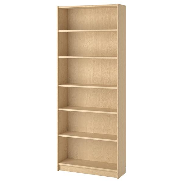 BILLY Boekenkast, berkenfineer, 80x28x202 cm