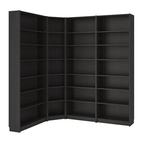 billy boekenkast zwartbruin 215135x237x28 cm ikea