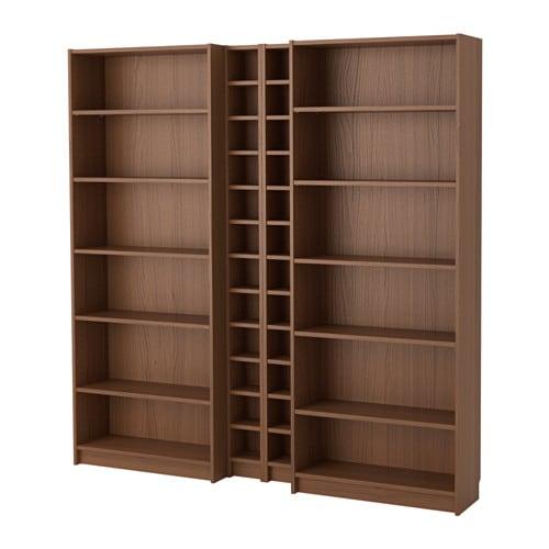 Billy Gnedby Boekenkast Bruin Essenfineer Ikea