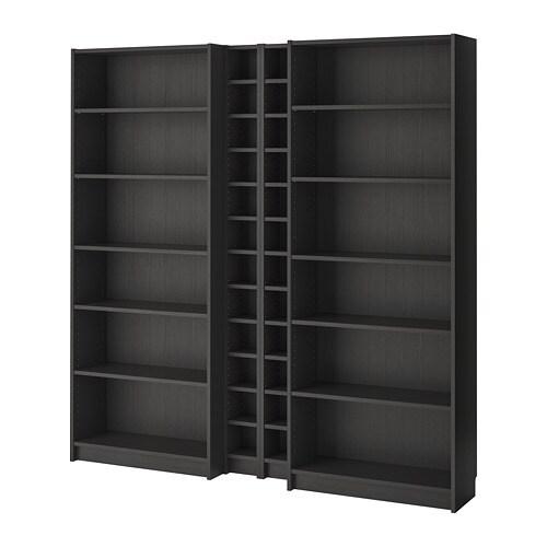 Ikea Expedit Boekenkast Zwart Bruin.Billy Gnedby Boekenkast Zwartbruin Ikea