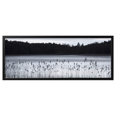 BJÖRKSTA Foto met lijst, Bosmeer/zwart, 140x56 cm