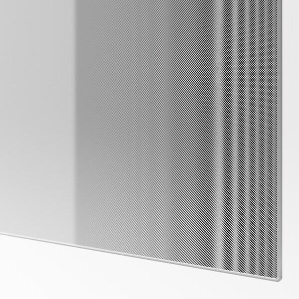 BJÖRNÖYA Schuifdeur, set van 2, grijs getint effect, 150x236 cm