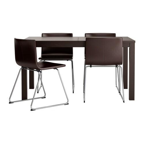 BJURSTA    BERNHARD Tafel en 4 stoelen   IKEA