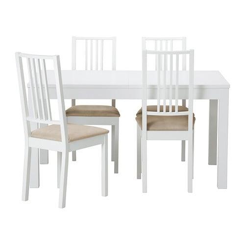 Bjursta b rje tafel en 4 stoelen ikea - Tafel en stoelen dineren ...