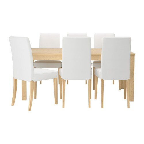 bjursta henriksdal tafel met 6 stoelen ikea. Black Bedroom Furniture Sets. Home Design Ideas
