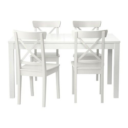 Bjursta ingolf tafel en 4 stoelen ikea for Ikea kinderstoel en tafel